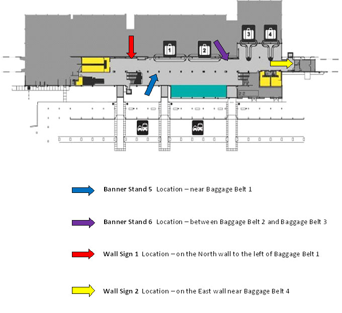 Locations for Terminal Floor 1