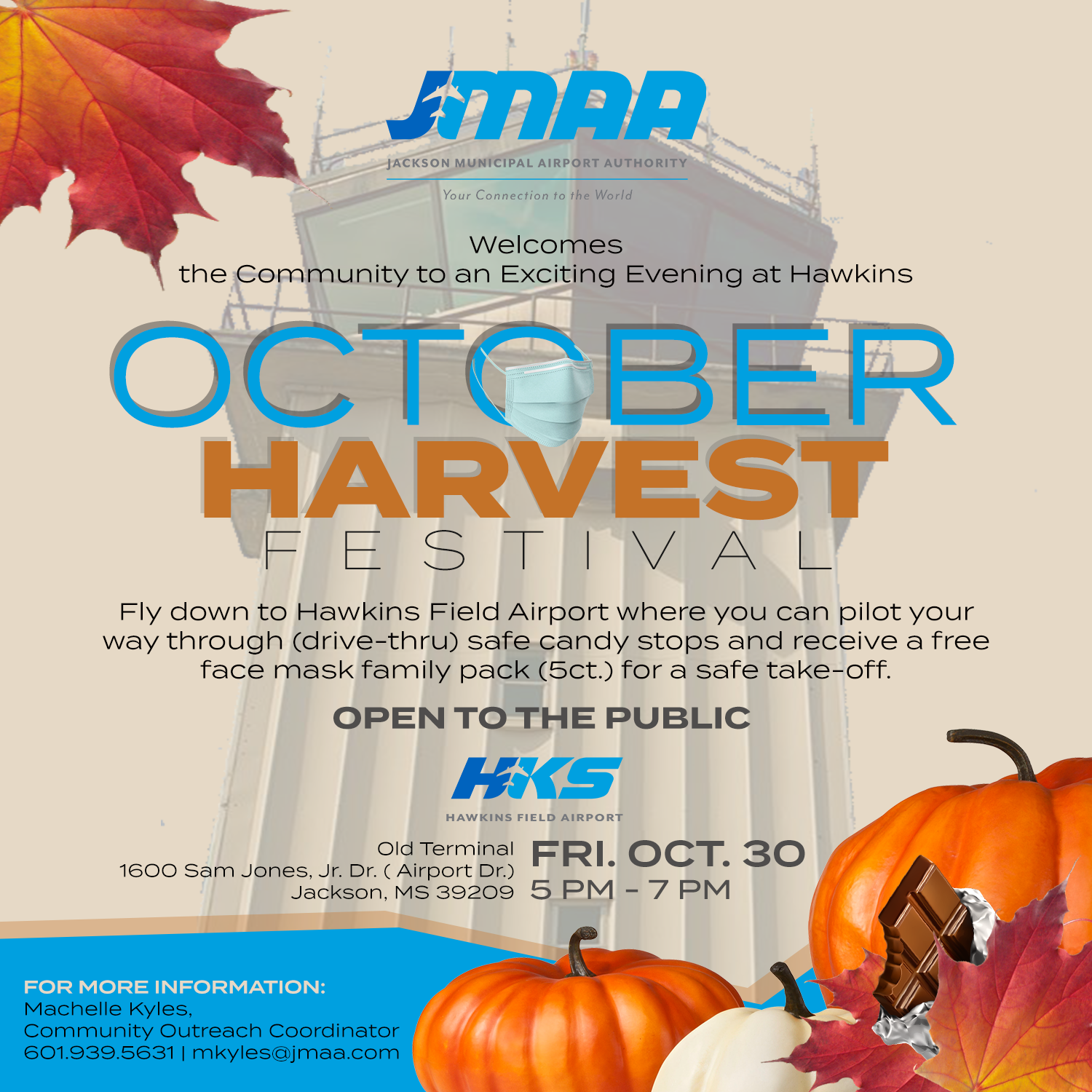 Jackson Municipal Airport Authority Welcomes the Public to the October Harvest Festival at HKS