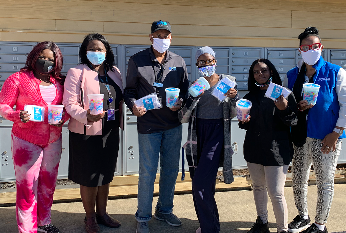 Jackson Municipal Airport Authority Collaborated with Springboard Opportunities to Host Easter Cotton Candy Event for the Commonwealth Village Community