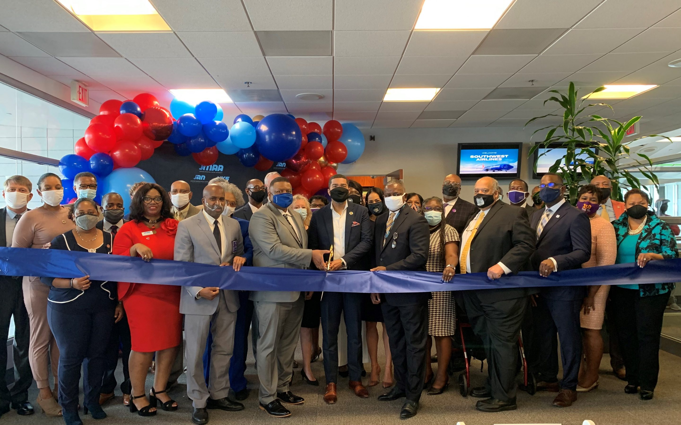 Jackson Municipal Airport Authority Celebrates the Return of Southwest Airlines with Official Ribbon Cutting and Reception at Jackson-Medgar Wiley Evers International Airport